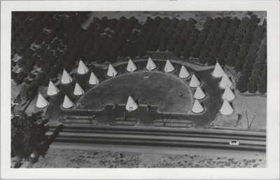 (N390) Vintage Postcard, RPPC, Wigwam Village, San Bernardino, California