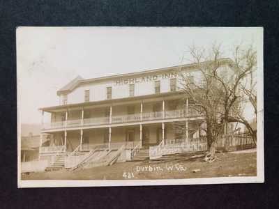 RPPC-Durbin WV-Highland Inn-Hotel-West Virginia-W Va-Pocahontas County-RP