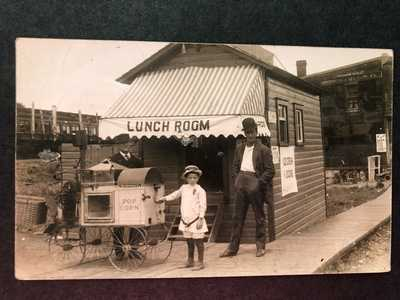 RPPC-Old Forge NY-Lunch-Popcorn Wagon-Ice Cream-Adirondack-Fulton Chain-Herkimer
