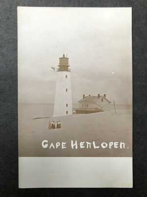 RPPC-DE-Cape Henlopen Lighthouse-Rehoboth Beach-Lewes-Delaware-Del-Sussex County