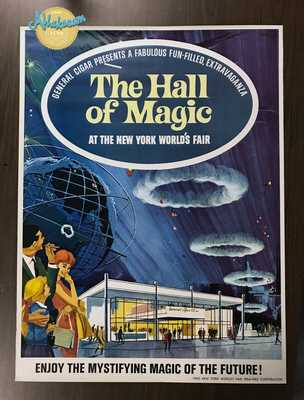ORIGINAL 64/65 New York World's Fair General Cigar's Hall of Magic NY-MTA Poster