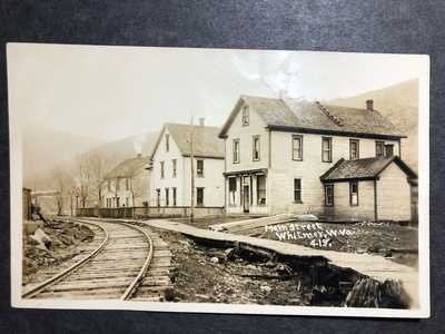 RPPC-Whitmer WV-W VA-Main Street-Store-Railroad-Randolph County-West Virginia-RP