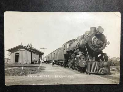 RPPC-Byron IL-CG&W Railroad Station-Steam Train-Depot-Illinois-Ill-Ogle County