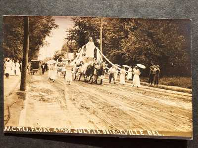 RPPC-Bridgeville DE-WCTU Float-Parade-July 4 1915-Del-Delaware-Sussex-Temperance
