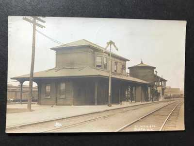 RPPC-Sloan NY-East Buffalo Railroad Station-Train Depot-New York-Erie Co-DL&W-RR