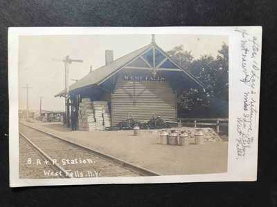 RPPC-West Falls NY-Railroad Station-Train Depot-New York-Erie County-BR&P-RR