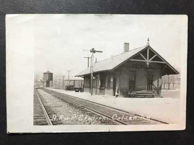 RPPC-Colden NY-BR&P Railroad Station-Train Depot-New York-Erie County-Real Photo