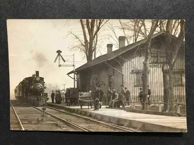 RPPC-Moweaqua IL-Railroad Station-Train Depot-Illinois-Shelby-Christian Co-RR