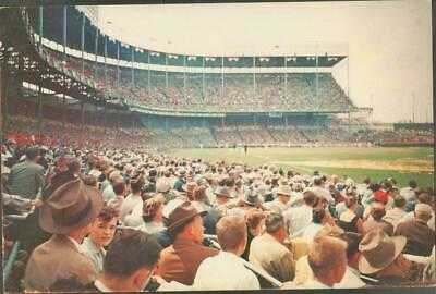 RARE 1955 Kansas City Athletics Baseball Municipal Stadium Jumbo Postcard