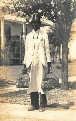 St Petersburg FL African American Selling His Fish Real Photo Postcard