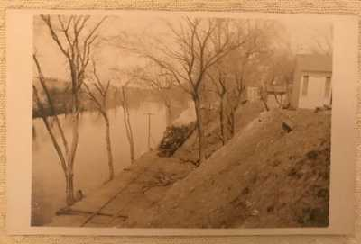 Vintage Antique RPPC Real Photo Postcard Naugatuck River Train Derby CT