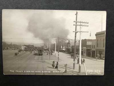 RPPC-Reno NV-Palace Gambling House Fire-Railroad-Nev-1909-Nevada-Lee Jellum-RP