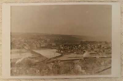 Antique Vintage RPPC Real Photo Postcard Derby & Shelton from Hill CT Vista