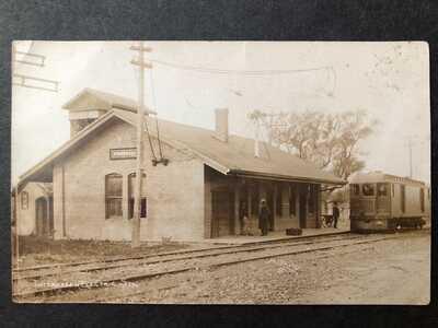 RPPC-Winnebago IL-Trolley-Interurban Electric Railroad Station-Illinois-ML Photo