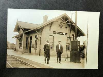 RPPC-Monroeville IN-Railroad Station-Train Depot-Indiana-Ind-Allen County-RP