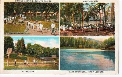 1928 Postcard Elkmont TN Ghost Town Camp LeConte Boys Lake Egwabulta Knoxville