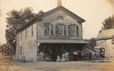 G98/ Peninsula Ohio RPPC Postcard c1910 Stuart Cigar Tobacco Shop Railroad Depot