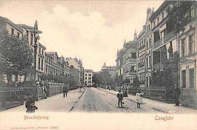 LANGFUHR - WRZESZCZ, DANZIG - GDANSK, POLAND, BRUNSHOFERWEG, HOMES PEOPLE c 1902