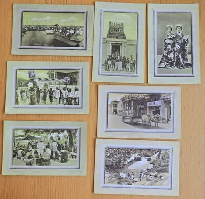 Postcards - Set of 6 Old Penang, George Town, Malaysia, prob Edwardian