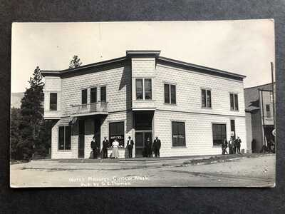 RPPC-Curlew WA-Hotel Ansorge-Washington-Ferry County-Wash-GE Thomas-Real Photo