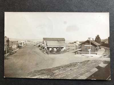 RPPC-St John WA-Railroad Station-Train Depot-Main Street-Whitman County-Wash-RP