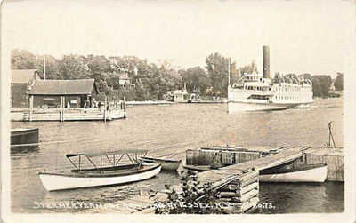 Essex NY Steamer Vermont Arriving Real Photo Postcard