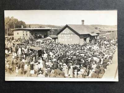 RPPC-East Jordan MI-WWI Troops-Railroad Station-Train Depot-Grayling-Michigan-RP
