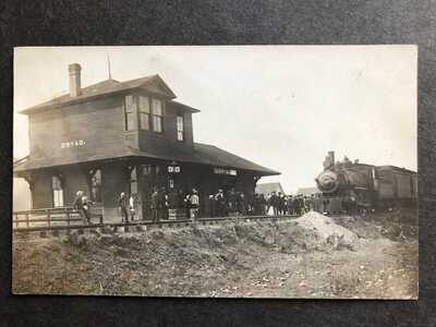 RPPC-Dryad WA-Railroad Station-Train-Depot-Washington-Lewis County-Real Photo-RP