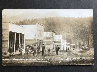 RPPC-Metaline Falls WA-Main Street-Stores-Washington-Pend Oreille County-RP