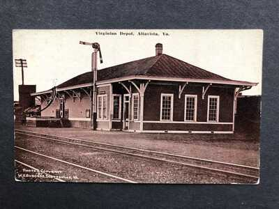 Altavista VA-Railroad Station-Train Depot-W E Burgess-Scottsville Virginia-RR