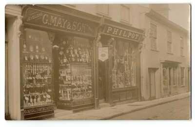 RP DISS G MAY JEWELLERS & PHILPOT SHOPFRONT MERE STREET R PHOTO NORFOLK 1911