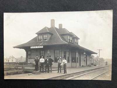 RPPC-Rapid River MI-Railroad Station-Train Depot-Mich-Soo Line-Delta Co-Michigan