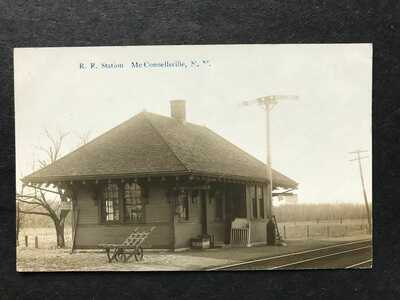 * RPPC-McConnellsville NY-Railroad Station-Train Depot-Oneida County-New York-RR
