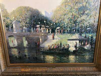 Painting (giclee) Boston Public Gardens