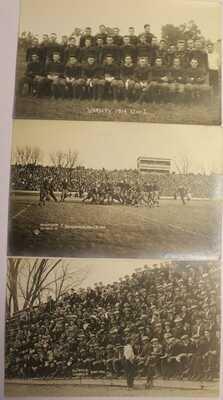 1911 1912 1914 UNIVERSITY OF ILLINOIS REAL PHOTO POSTCARD FOOTBALL TEAM & GAME