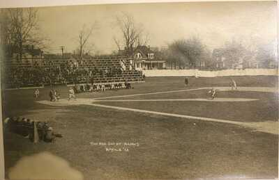 1913 UNIVERSITY OF ILLINOIS BASEBALL GAME RED SOX REAL PHOTO RPPC POSTCARD
