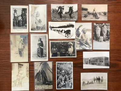 15 Indian / Native American Real Photo Postcards / RPPC Lot 1