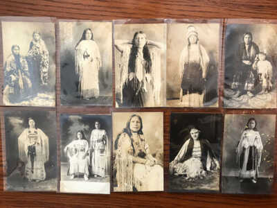 10 Indian / Native American Real Photo Postcards / RPPC Lot 2 / Indian Maidens