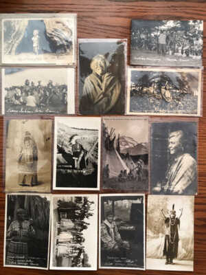 13 Indian / Native American Real Photo Postcards / RPPC Lot 3