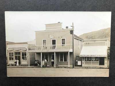 RPPC-Okanogan WA-Hotel Oxford-Frank Matsura Photo?=Message-Washington-Real Photo