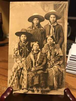 Antique Native American / Indian Real Photo Postcard / RPPC Indian Family