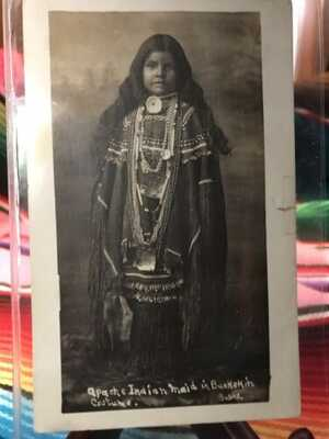 Antique Native American / Indian Real Photo Postcard / RPPC Edward Bates Photo
