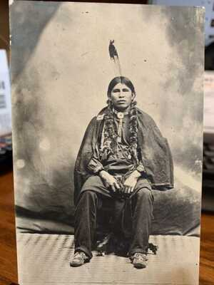 Antique Native American / Indian Real Photo Postcard / RPPC