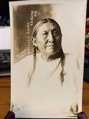 Antique Native American / Indian Real Photo Postcard / RPPC Shiffert Photo