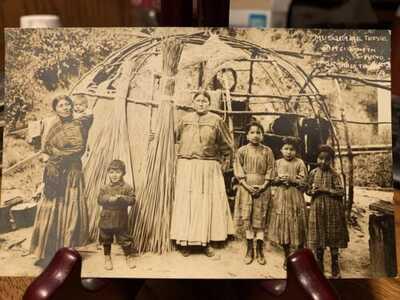Antique Native American / Indian Real Photo Postcard / RPPC Tama, Iowa