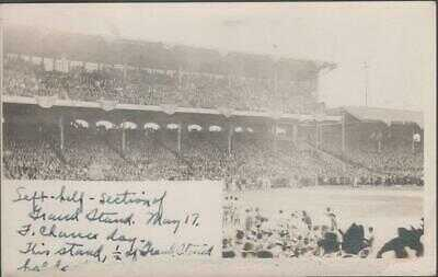 May 17 1913 Chicago White Sox Comiskey Park RP Postcard Frank Chance Day