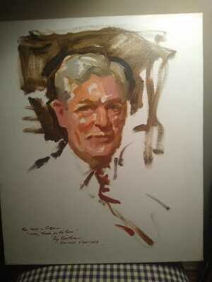 Painting, Everett Raymond Kinstler, oil sketch, signed, For Mary & Stew,1977