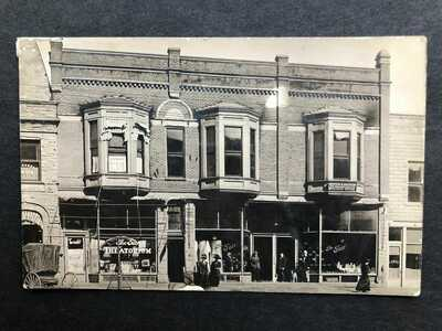 RPPC-Hillsboro OH-Fair Theatorium-Theatre-Store-Highland County Ohio-Real Photo