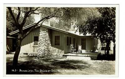Vintage BUNGALOW THE DESERT INN Palm Springs CA California Real Photo Post Card