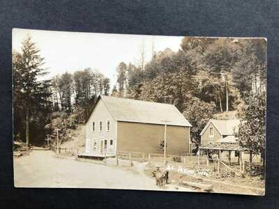 RPPC-Reno WA-Post Office-Store-Real Photo-Washington-Cowlitz County-Wash-Lewis